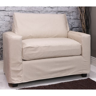 Bombay Hornell Natural Chair-and-a-Half Slipcover