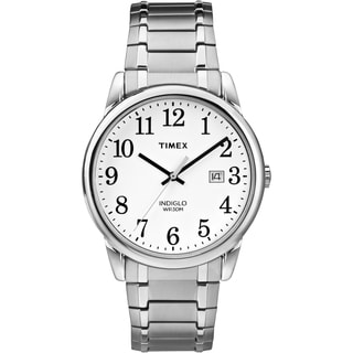 Timex Men's TW2P813009J Easy Reader Silver-Tone Stainless Steel Expansion Band Watch