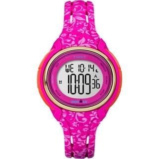 Timex Women's TW5M030009J Ironman Sleek 50 Pink Floral Watch