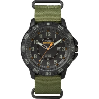 Timex Men's TW4B036009J Expedition Gallatin Green Nylon Slip-Thru Strap Watch