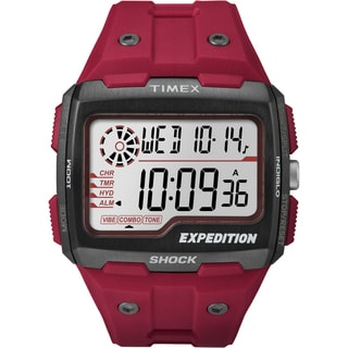 Timex Men's TW4B039009J Expedition Grid Shock Red Watch