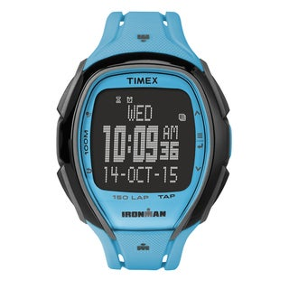 Timex Unisex TW5M006009J Ironman Sleek 150 Tapscreen Neon Blue Watch