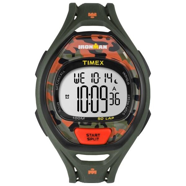 Timex Unisex TW5M012009J Ironman Sleek 50 Orange/Green Camo Watch