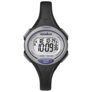 Timex Women's TW5K900009J Ironman Essential 30 Black/Purple Watch
