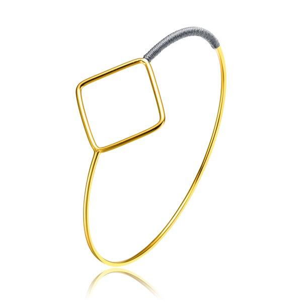 Alberto Moore Goldplated Dried Herb Thread Diamond-shape Bangle