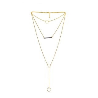 Alberto Moore Goldplated Desert Sage Thread Multi-Layer Necklace