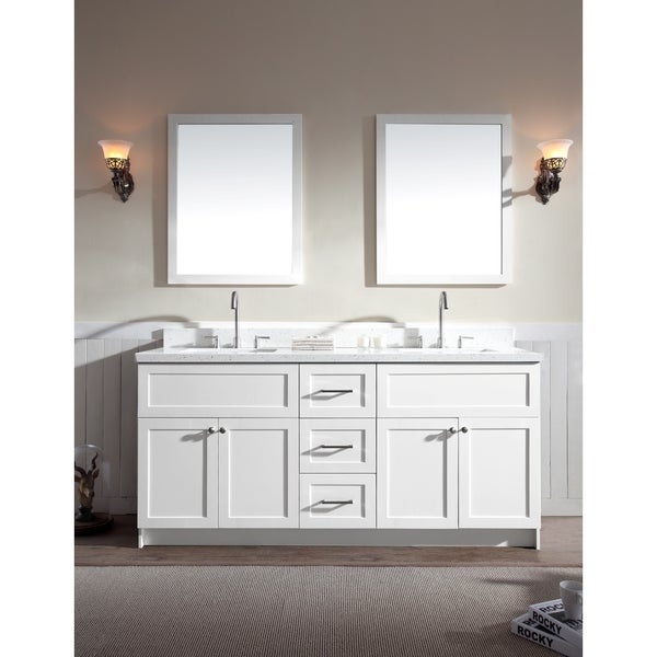 Hamlet 73-inch White Double-sink Vanity