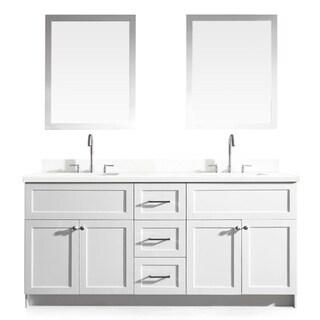 Hamlet 73-inch White Double-sink Vanity