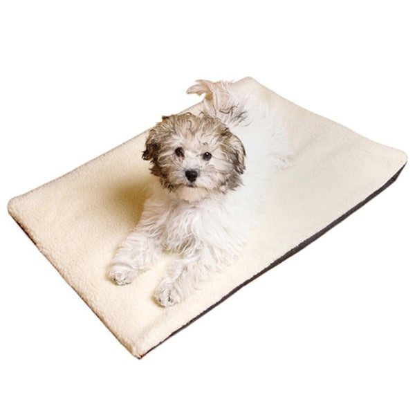 Self Warming Sherpa Pet Cushion with Non Slip Base and Heat Reflective Layer