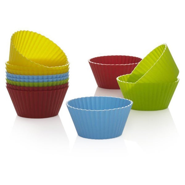Colorful Non Stick Reusable Silicone Baking Cups 16997084