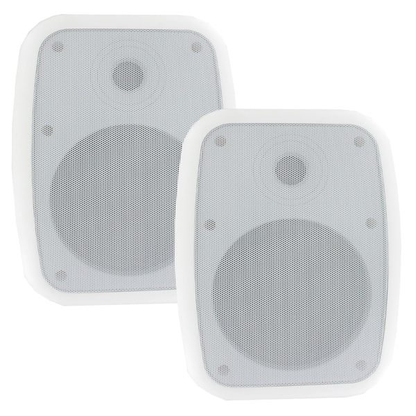 Theater Solutions TS6ODW Indoor/ Outdoor Weatherproof HD Mountable White Speakers with 6.5-inch Woofers