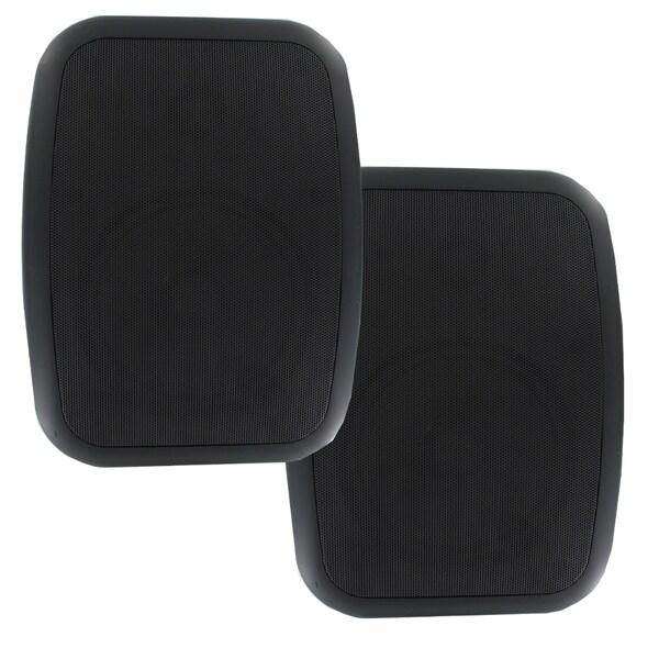 Theater Solutions TS6ODB Indoor/ Outdoor Weatherproof HD Mountable Black Speakers with 6.5-inch Woofers