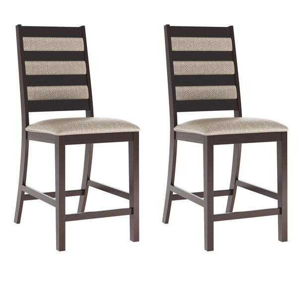 Platinum Sage Fabric Bistro Dining Chairs (Set of 2)