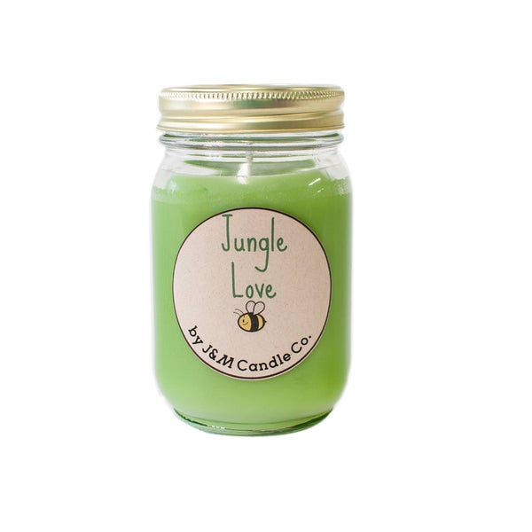 J&M Candle Company 100-percent Natural 16 oz 'Jungle Love' Soy Candle