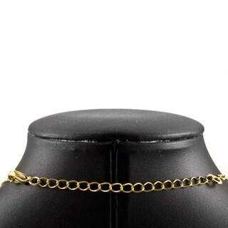 Fancy Cable Link Goldtone Necklace Extender