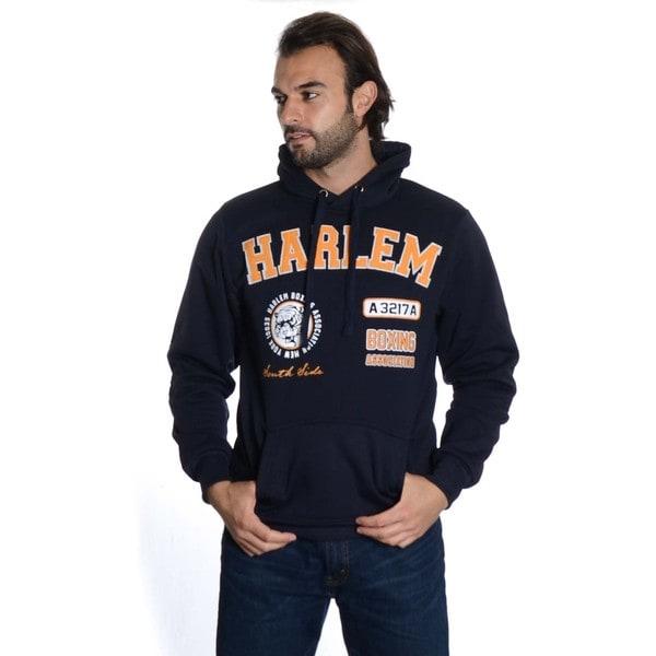 Men's Pull Over Fleece Embroidered Double Hood Sweatshirt