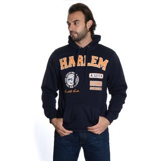 Men's Pull Over Fleece Embroidered Double Hood Sweatshirt
