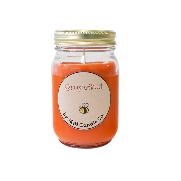 J&M Candle Company 100-percent Natural 16 oz 'Grapefruit' Soy Candle