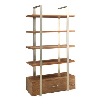 Christopher Knight Home Wood and Steel One Drawer Bookcase