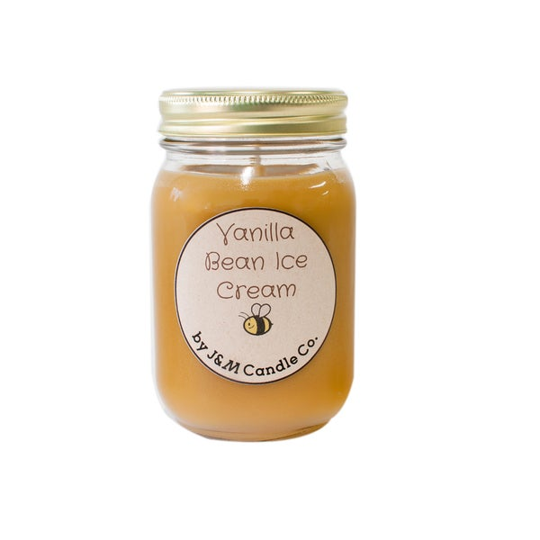 J&M Candle Company 100-percent Natural 16 oz 'Vanilla Bean Ice Cream' Soy Candle