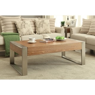 Christopher Knight Home Wood and Metal Two Drawer Cocktail Table