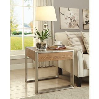 Christopher Knight Home Wood and Metal One Drawer End Table