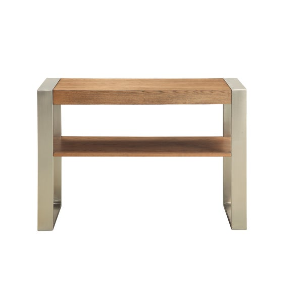 Christopher Knight Home Wood and Metal Two Tier Console