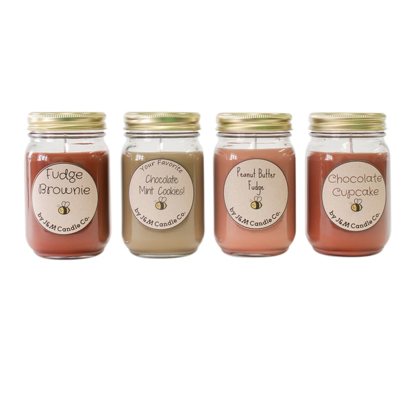 J&M Candle Company 100-percent Natural 16 oz 'Cookies, Cookies and More Cookies' Soy Candle Collection