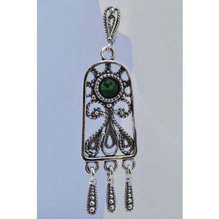 "Gorgeous Hypoallergenic Earrings ""Krasa"" with Malachite stones"