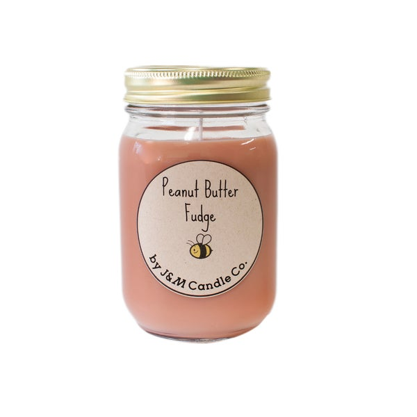 J&M Candle Company 100-percent Natural 16 oz 'Peanut Butter Fudge' Soy Candle