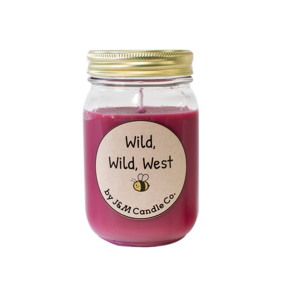J&M Candle Company 100-percent Natural 16 oz 'Wild, Wild, West' Soy Candle