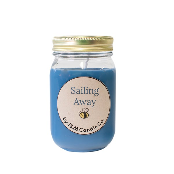 J&M Candle Company 100-percent Natural 16 oz 'Sailing Away' Soy Candle