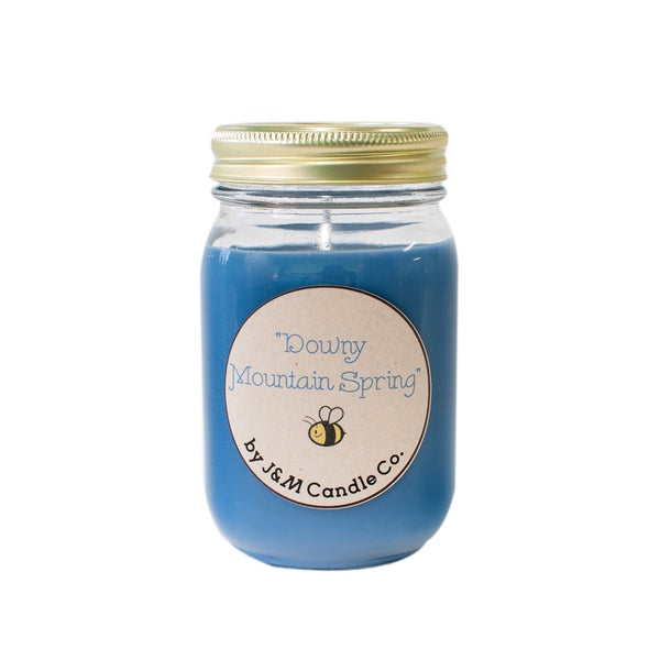 J&M Candle Company 100-percent Natural 16 oz 'Downy Mountain Spring' Soy Candle