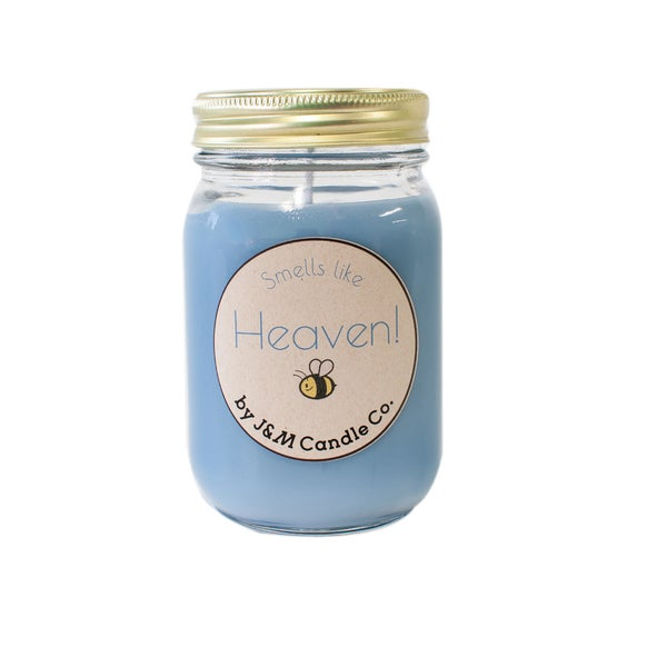 J&M Candle Company 100-percent Natural 16 oz 'Smells Like Heaven' Soy Candle