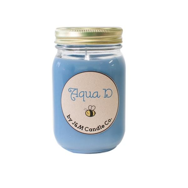 J&M Candle Company 100-percent Natural 16 oz 'Aqua D' Soy Candle