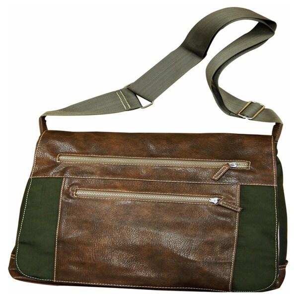 Green Adjustable Strap Messenger Bag