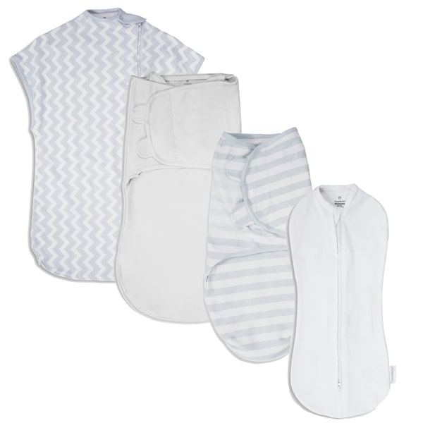 SwaddleMe White and Grey Chevron 1st Year Safe Sleep Grey Gift Set