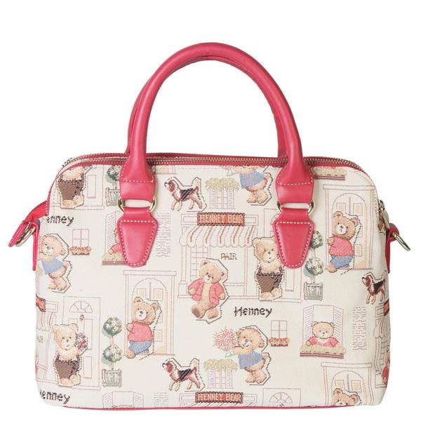Henney Bear Floral Bear Handbag