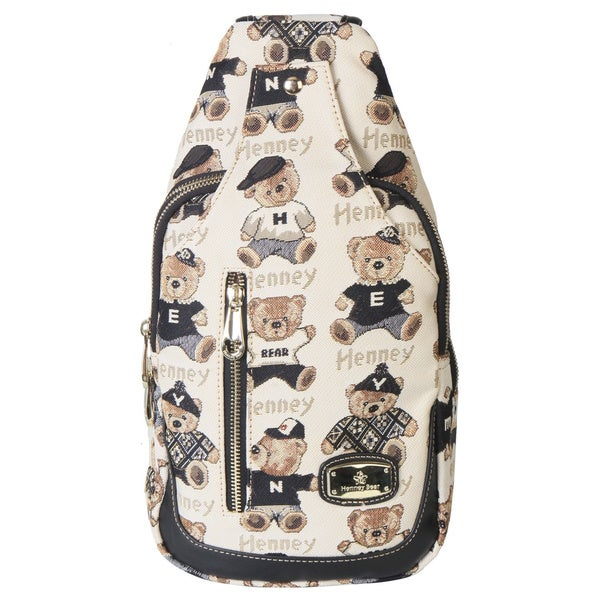 Henney Bear Canvas Leather Backpack
