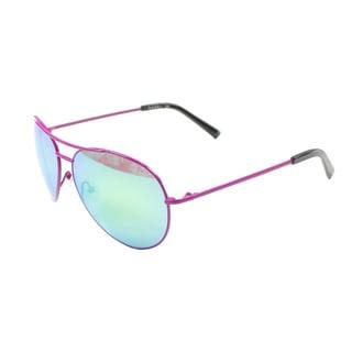 Nicole Miller Women's 'Moore' Pink Aviator Sunglasses