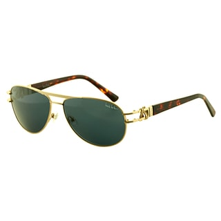 Nicole Miller Women's 'Perry' Matte Gold/ Tortoise Metal Fashion Sunglasses