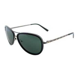 Nicole Miller Women's 'Horatio' Black Plastic Aviator Sunglasses