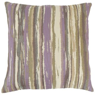 Uchenna Stripes 18 Inch Down and Feather Filled Pillow