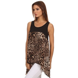 Women's Sleeveless Animal Print Top