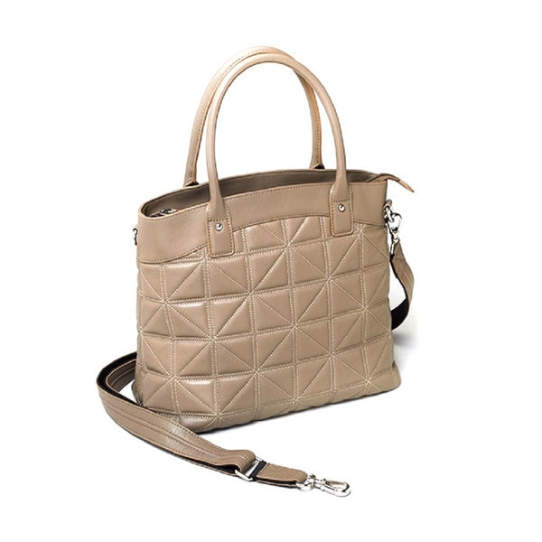 Gun Totin' Mamas GTM-68 Concealed Carry Town Taupe Tote Bag