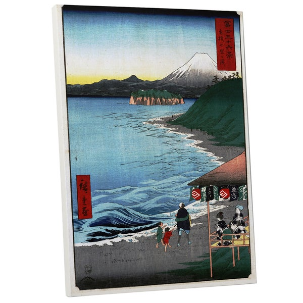 Hiroshige 'The Seven Ri Beach' Gallery Wrapped Canvas Wall Art