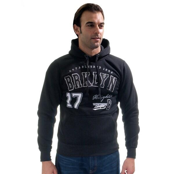 Men's Pull Over Fleece Double Hood 'Brklyn Heights' Sweatshirt with Embroidery