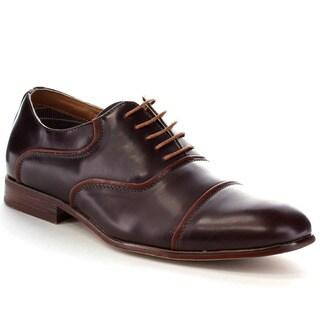 FERRO ALDO MFA-19328 Men's Smooth Cap Toe Lace Up Casual Oxfords