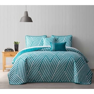Avondale Manor Archer Striped 5-piece Quilt Set