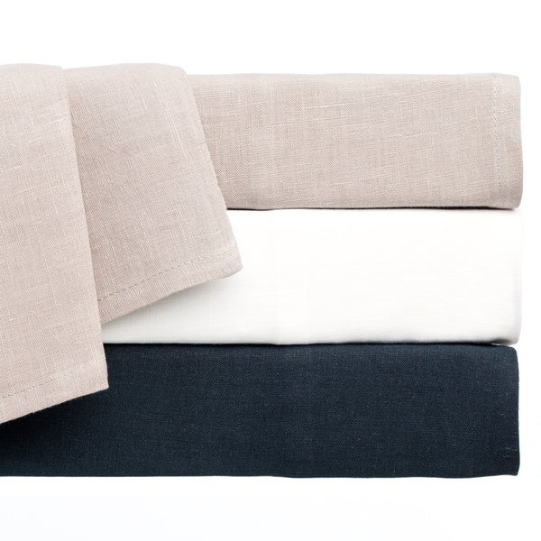 Vintage Washed Belgian Linen 4-piece Sheet Set